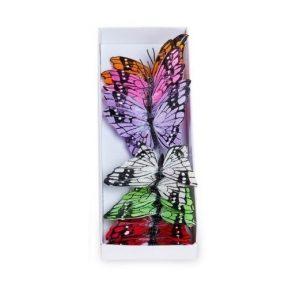 חבילת פרפרים לקישוט - טבעי