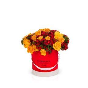 קופסה לפרחים + תבנית פלסטיק